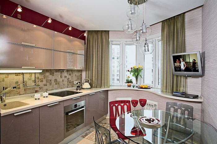 кухня п44 с эркером