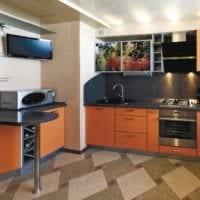 дизайн кухни с вентиляционным коробом гарнитур фото