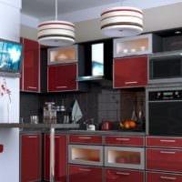 дизайн кухни с вентиляционным коробом идеи интерьера