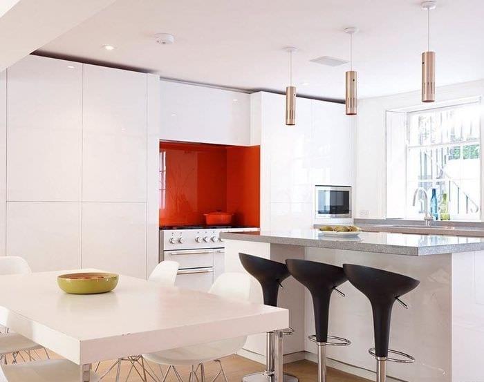 дизайн кухни столовой минимум декора