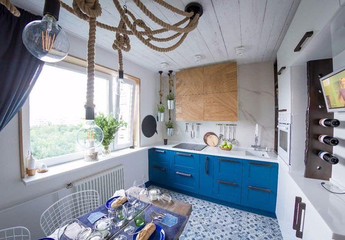 средиземноморский дизайн кухни столовой
