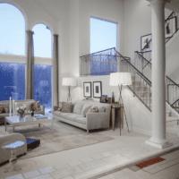 дизайн лестницы в большом доме