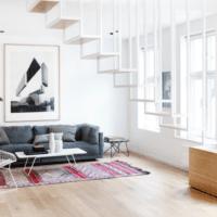 дизайн лестницы в доме интерьер