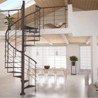 дизайн лестницы в доме винтовая
