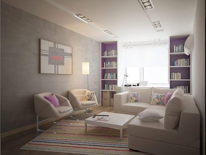 дизайн небольшого зала