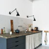 дизайн кухни студии интерьер