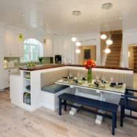 дизайн кухни студии современный
