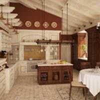 дизайн кухни столовой гостиной в частном доме фото