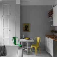 дизайн кухни столовой гостиной в частном доме фото идеи