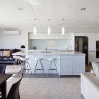 дизайн кухни столовой гостиной в частном доме идеи фото