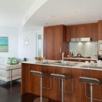 дизайн кухни столовой гостиной в частном доме интерьер