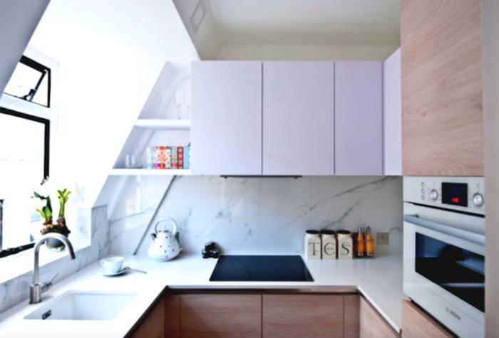 расположение техники на кухне 6 кв м
