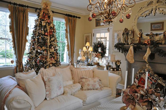 гостиная на новый год