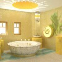 вариант применения яркого желтого цвета в декоре квартиры картинка