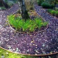 пример использования красивых садовых дорожек картинка