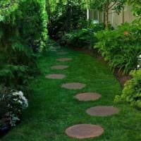 пример использования красивых садовых дорожек в ландшафтном дизайне картинка