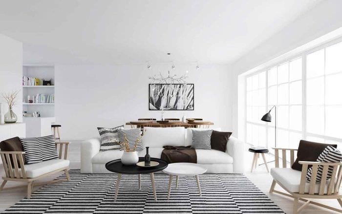 пример использования яркого скандинавского стиля в интерьере