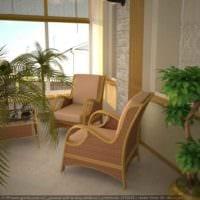 пример применения светлых идей оформления зимнего сада в доме картинка