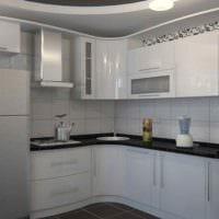 пример яркого декора кухни 10 кв.м. серии п 44 фото