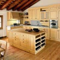 идея красивого стиля кухни в деревенском стиле фото