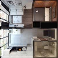 пример необычного декора квартиры студии 26 квадратных метров фото