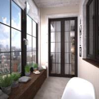 красивый декор маленького балкона