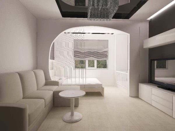 пример красивого дизайна гостиной 15 кв.м фото