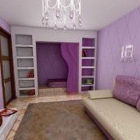 вариант красивого стиля гостиной спальни фото