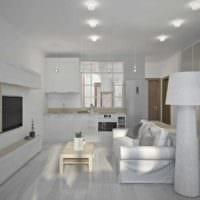 идея яркого дизайна гостиной спальни картинка