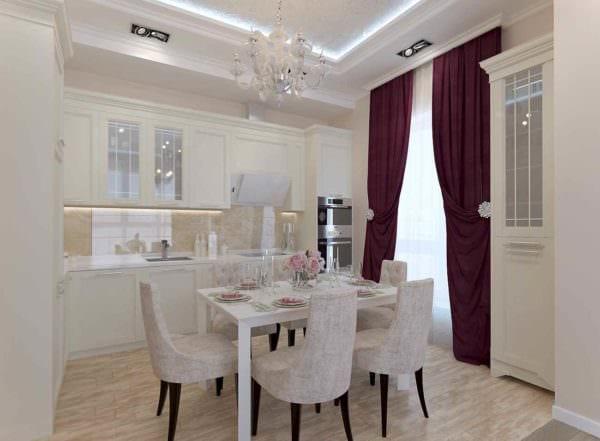 вариант красивого стиля кухни 10 кв.м. серии п 44 картинка