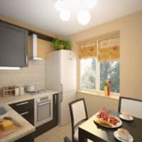 пример яркого стиля кухни 12 кв.м картинка