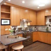 идея светлого дизайна кухни 12 кв.м фото