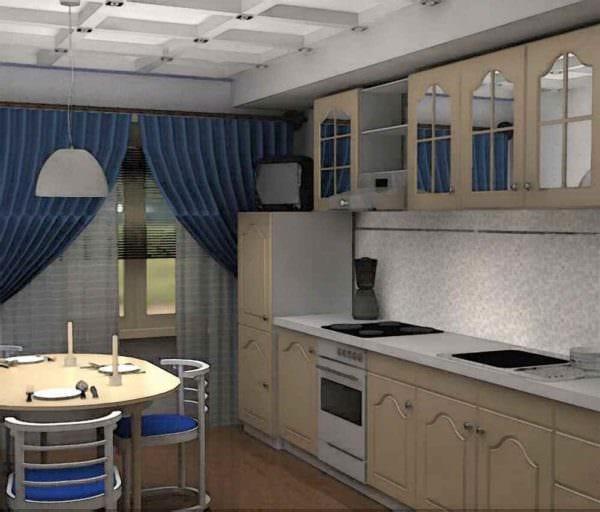 идея светлого декора кухни в загородном доме фото