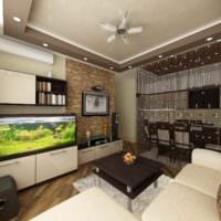 идея светлого дизайна студии 20 кв.м фото
