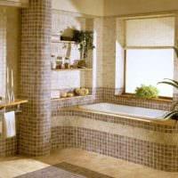 пример красивого стиля укладки плитки в ванной комнате картинка