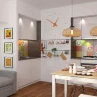 вариант необычного стиля кухни 11 кв.м картинка