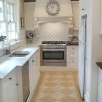 пример красивого декора кухни 11 кв.м фото