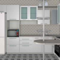пример красивого дизайна кухни с газовой колонкой картинка
