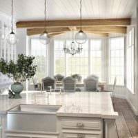 пример необычного стиля кухни в классическом стиле фото