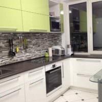 вариант светлого дизайна кухни 11 кв.м картинка
