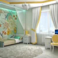 пример красивого дизайна детской комнаты для девочки картинка