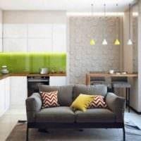 пример красивого интерьера кухни 12 кв.м фото