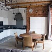 вариант необычного стиля кухни 12 кв.м картинка
