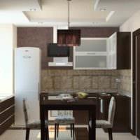 идея необычного дизайна кухни 7 кв.м фото