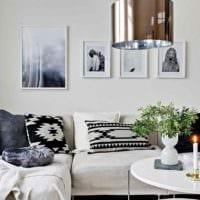 вариант светлого интерьера комнаты в скандинавском стиле картинка