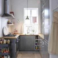 пример необычного дизайна кухни 10 кв.м. серии п 44 картинка