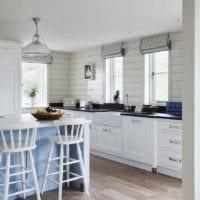 пример необычного стиля кухни в деревенском стиле фото