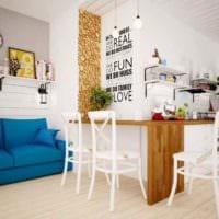 вариант светлого декора комнаты в скандинавском стиле фото