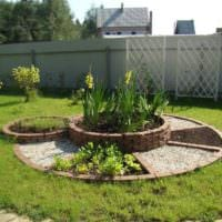 вариант светлого декора огорода в частном дворе картинка