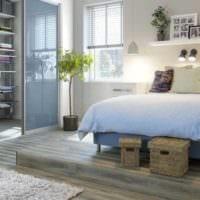 пример яркого стиля гостиной спальни фото